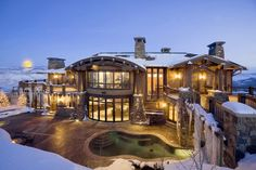 $21.9 Million for Amazing Mountain Home  A little too much for me but still stunning.