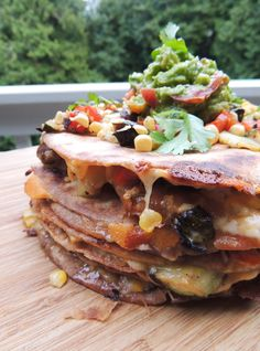 Grilled Veggie Quesadillas with Vegan Option