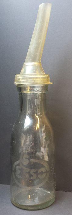 Esso fles met tuut gestraald logo