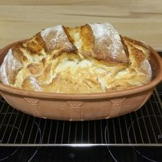 Leckeres Joghurtbrot im Römertopf backen Bake delicious yoghurt bread in a Roman pot Blueberry French Toast Casserole, Baked French Toast Casserole, French Toast Bake, Pain Perdu Simple, Crockpot French Toast, Challah Bread Recipes, Pumpkin French Toast, Mets, Breads