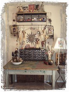 Joanna Pierotti's studio space .. love!