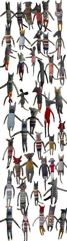 Knuffels à la carte blog: It's a little bit crowded on my blog ...