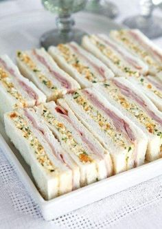The best ham and egg sandwiches you've ever had? You be the judge. The best ham and egg sandwiches you've ever had? You be the judge. Tea Party Sandwiches, Egg Sandwiches, Cucumber Tea Sandwiches, Gourmet Sandwiches, Ham And Egg Sandwich, Club Sandwich Recipes, Sandwich Ideas, Tea Recipes, Cooking Recipes