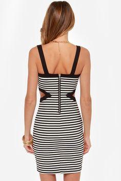Jack by BB Dakota Mac Black and White Striped Dress at Lulus.com!