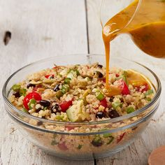 Quinoa Salad with Spicy Honey Lime Dressing