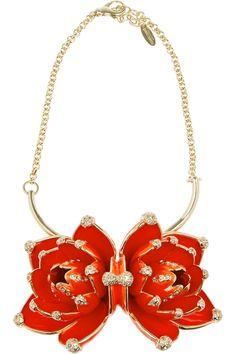 ROBERTO CAVALLI  Gold-plated Swarovski crystal necklace