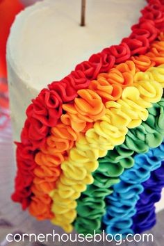 I like to look for rainbows cake.  Great baptism luncheon ideas too!