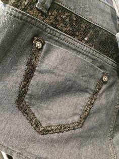 Fast Fashion, Denim Fashion, Womens Fashion, Patched Denim, Patterned Jeans, Rainbow Fashion, Denim Style, New Trends, Sequins
