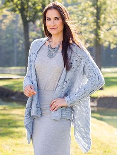 New Knitting Patterns - ANNIE'S SIGNATURE DESIGNS: Alamere Cardigan Knit Pattern