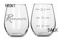 Take pasta dinner up a notch with these running-inspired wine glasses.