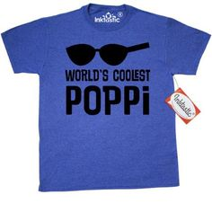 21c7d048 Inktastic Worlds Coolest Poppi Fathers Day T-Shirt Best Gift Grandpa For  Him Cool Fun Mens Adult Clothing Apparel Tees T-shirts Hws