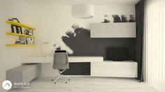 Home-office design by Anita Ilie Casa Patrata Home Office Design, Office Ideas, Interior Design, Projects, Home Decor, Houses, Nest Design, Log Projects, Blue Prints