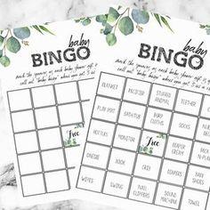 Baby Shower Find The Guest Bingo Baby Bingo Cards Baby | Etsy Baby Shower Prizes, Fun Baby Shower Games, Baby Shower Bingo, Baby Shower Printables, Boy Shower, Bingo Board, Baby Bingo, Eucalyptus Garland, Star Baby Showers