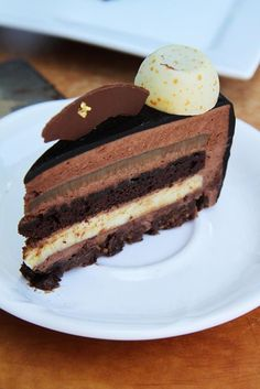 Gourmet Baking: Chocolate Vanilla Coffee Entremet, inspiration only