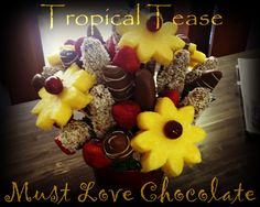 Tropical Tease Chocolate Dipped Fruit, Love Chocolate, Tropical, Sweet, Food, Meal, Hoods, Eten, Meals