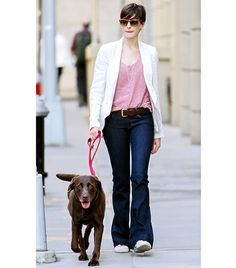 ::Anne Hathaway flared jeans::