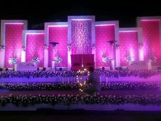 This beautiful stage setup💝✌ Beautiful decor and all setup__ Will be done. Wedding event planner Destination wedding planner Surprise party planner Anniversary events - arrangement for couples💏✌surprise Desi Wedding Decor, Wedding Stage Design, Wedding Hall Decorations, Marriage Decoration, Tent Decorations, Flower Decorations, Wedding Designs, Wedding Ideas, Reception Stage Decor