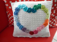 Instructions for lovely textured white cushion - can purchase pattern for roses