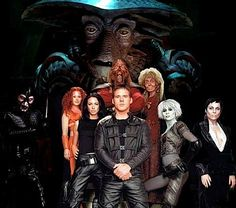 """Farscape - THE BEST!!!!!  Pretty wild stories and action. It's in syndication now....check """"your local listings""""!"""
