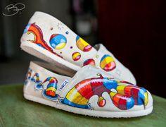 Custom Toms Shoes HandDrawn Design by BPillustration on Etsy, $148.00