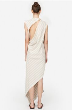 Long Dress / Open Back / Asymmetrical Hem