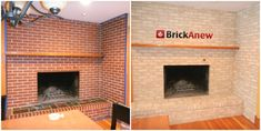 How to Redo a Brick Fireplace - http://evafurniture.com/how-to-redo-a-brick-fireplace/