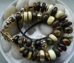 Raw and rustic amber bracelet and necklace