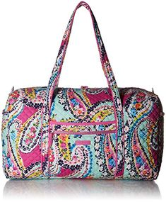 Vera Bradley Iconic Large Travel Duffel, Signature Cotton Review Mother  Gifts, Mothers, Travel f4a0290570