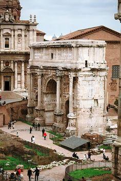 I love Rome. Arch of Septimus Severus, Rome, Italy