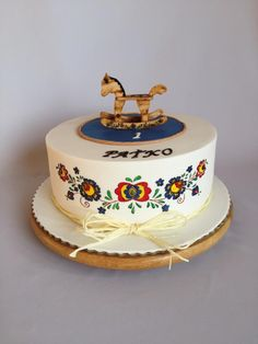 Rocking horse and Slovak folklore - cake by Layla A