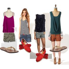 Great tops with nice draping to hide post-partum belly. Vacation and summer ideas. nursing mommy style