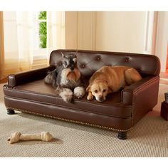 Tufted faux leather pet bed with nailhead trim. Product: Pet bedConstruction Material: Faux leather, PU/CA foam and w...