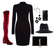 """""""Untitled #4412"""" by magsmccray on Polyvore featuring Stuart Weitzman, Yves Saint Laurent, rag & bone and Kenneth Jay Lane"""