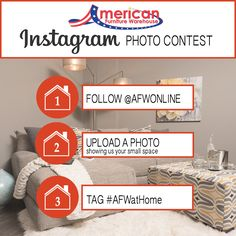 Enter our August Instagram photo contest for the chance to win a $100 gift card from American Furniture Warehouse!