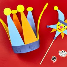 Kids can become a character in their own fairy tale when they make this Camp Creativity Castles and Princesses: Court Jester hat Foam Crafts, Diy Crafts To Sell, Diy Crafts For Kids, Projects For Kids, Arts And Crafts, Paper Crafts, Toddler Crafts, Preschool Crafts, Mishloach Manos