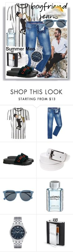 """Men In Summer Jeans"" by anniecy ❤ liked on Polyvore featuring Dolce&Gabbana, Diesel, Gucci, Topman, Salvatore Ferragamo, Emporio Armani, men's fashion, menswear, jeans and summerstyle"