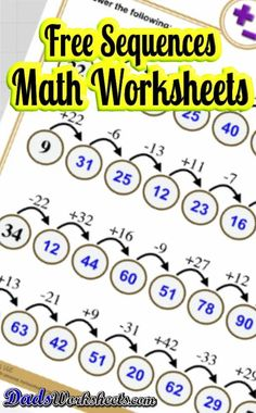 Printable Addition Worksheets with Answer Keys! Timed tests, place value and multiple digit problems! Math Games For Kids, Fun Math Activities, Learning Resources, Teaching Strategies, Teaching Math, Free Printable Math Worksheets, Addition Worksheets, Math Notebooks, Basic Math