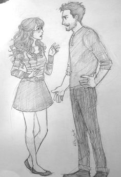 Love this drawing of Jess and Nick