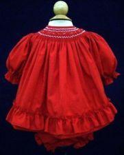 cc21ccb0106a9 Will'beth Preemie Baby Girl Smocked Red Christmas Dress NWT Red Christmas  Dress, Satin