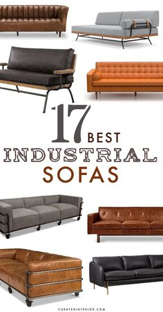 Finding a great selection of industrial sofas can be tough. There are so many different options to choose from that it's hard to know where to begin! When it comes to industrial decor and design, it's all about the use of metal, leather and wood. These three materials are the primary elements of most industrial furniture. When it comes to the color palette, go with darker hues like chocolate brown or black. #industrialsofas #sofas Industrial Sofas, Industrial Interior Design, Industrial Interiors, Tufted Leather Sofa, Cool Couches, Sofa Shop, Home Design Decor, Loft Style, Best Sofa