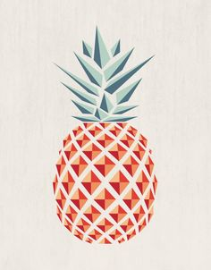 Pineapple Art Print by Basilique | Society6