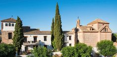 Experience the beauty of Andalusia in the best rural hotel of Granada. Beautiful rooms and pool, delicious food and scenic countryside – only half an hour from the Alhambra. Spain And Portugal, Andalusia, Granada, Countryside, Mansions, House Styles, Beautiful, Grenada, Fancy Houses