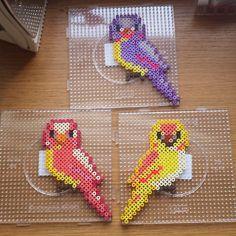 Birds hama perler beads by Luna de Feuth