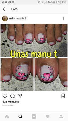 Pedicure Nail Art, Toe Nails, Erika, Veronica, Nail Design, Nail Art, Brush Pen, Nail Art Designs, Toe Nail Art