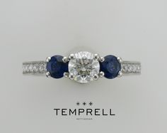 A combination of round sapphire and diamond.   https://www.facebook.com/Temprell