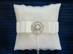 Anillo de boda portador almohada Vintage por flordelunadesigns