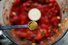 Here's the situation: I am completely high maintenance when it comes to salsa. Now, I'm not talking about Pico de Gallo. I'm high maintenance there, too…but that'… How To Make Salsa, How To Make Cheese, Home Canning Recipes, Cooking Recipes, Restaurant Style Salsa, Copykat Recipes, Best Blenders, Fresh Salsa, Chips And Salsa