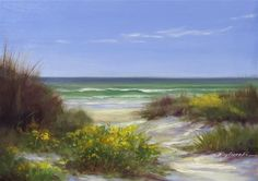"""Flowers On The Beach"" - Original Fine Art for Sale - © Martin Figlinski"