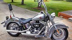 eBay: 2016 Harley-Davidson Softail 2016 Harley Davidson Heritage Softail Billet Silver Motorcycle #harleydavidson