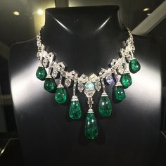 An Art Deco emerald and diamond necklace, once owned by HRH Princess Faiza of Egypt, circa 1929, by Van Cleef & Arpels. @vancleefarpels #emerald #emeraldnecklace #historicjewelry #royaljewels #vcacollection